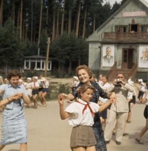 During her husband's tenure as Vice President, Pat Nixon visited the Soviet Union and joined in traditional folk dancing. (National Geographic)