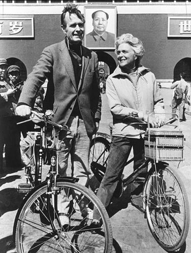 George and Barbara Bush usually rode bicycles around Beijing when they lived there. (GBPL)