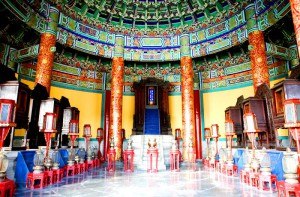Inside the Temple of Heaven. (Temple of Heaven website, China)