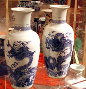 Porcelain vases purchased by Lou Hoover in China. (HHPL)