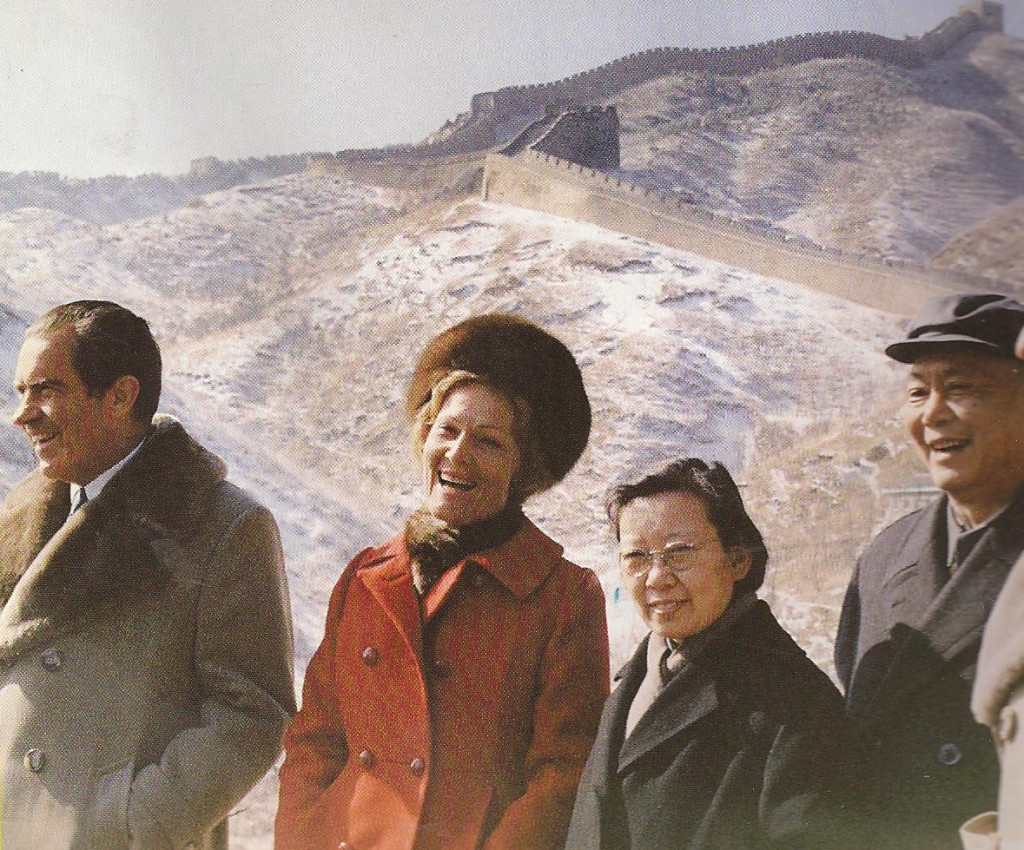 President and Mrs. Nixon at the Great Wall of China. (RNPL)