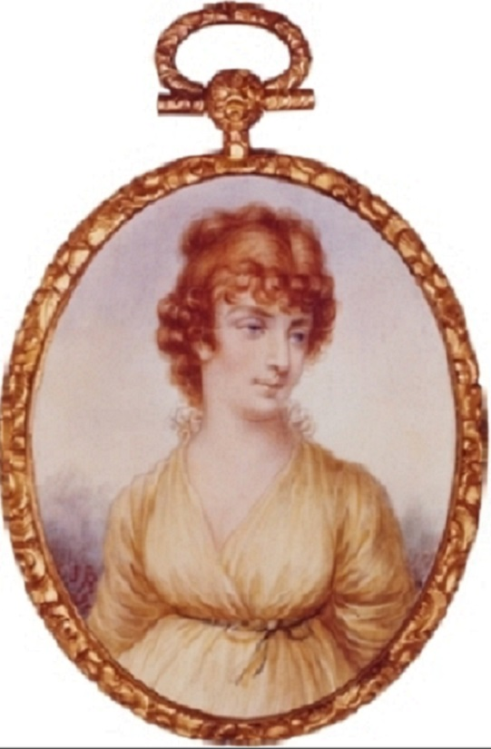 A minature of Martha Jefferson Randolph before her marriage, painted in France. (US State Department