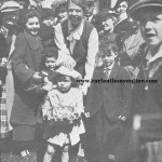 Eleanor Roosevelt with some toddlers at the 193 Easter Egg Roll.