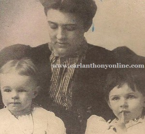 Frances Cleveland with two of her three daughters, Marion and Esther.