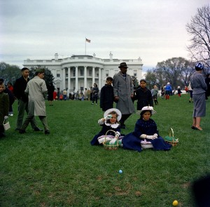 Twin sisters at the 1961 event. (JFKL)