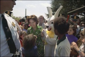 Julie Nixon Eisenhower at the 1974 White House Easter Egg Roll.
