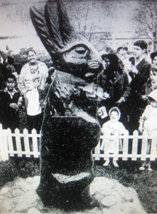 The LBJs were at their ranch and missed the White House Easter Egg during their tenancy but a Texas-sized chocolate Easter Bunny still drew in the crowds.