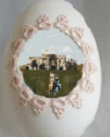 A friend gave Ida McKinley a diorama Easter egg showing her long-gone daughters Katie and Little Ida on the White House South Lawn.