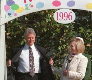 A page from the Easter Egg Roll program given to guests at the last of eight events hosted by Hillary Clinton. (WJCPL)