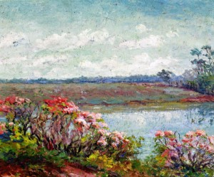 One of Ellen Wilson's landscape paintings.