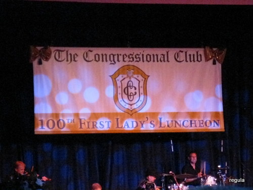 Congressional Club banner at 100th anniversary of the First Ladies' Luncheon