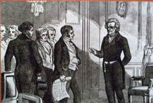 President Jackson meeting with his Cabinet.