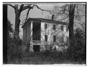Melrose House, Angelica Singleton Van Buren's family plantation home in Sumter County, South Carolina.