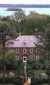 An aerial view of Berkeley Plantation in Virginia where William Henry Harrison was born and where his daughter and White House hostess Anna Taylor later lived. (Berkeley)