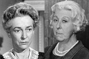 Lillian Bronson as Miss Currier and Norma Varden as Miss Dinsendorff depicted the two heads of the First Lady's staff, inherited by the First Gent, who instruct him on his social calendar.