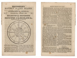 Monthly zodiacal magazines of the 19th century.