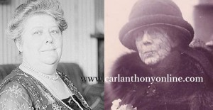 Astrologer Madame Marcia Chaumprey and her client First Lady Florence Harding.