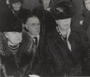 Edith Wilson and Eleanor Roosevelt proceed to the U.S. Capitol to hear President FDR declare war on December 7, 1941.