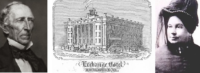 Former President John Tyler died in Richmond, Virginia Exchange Hotel as foretold in a dream by his wife, Julia. A quarter of a century she died there too.