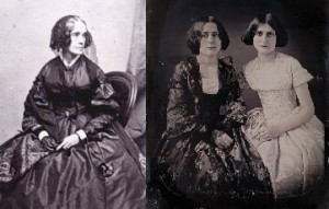 Jane Pierce and the famous spiritualist duo, the Fox sisters.(LC; Missouri History Museum)