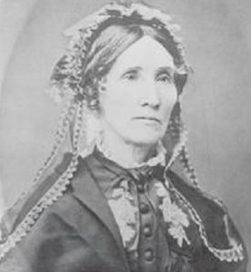 Jane Pierce in later years, perpetually wore black mourning clothes. (NH Historical Society)