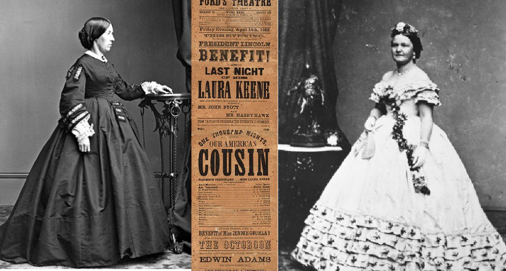 Julia Grant (left) had a fearful sense of doom for her husband had they accepted the invitation of Mrs. Lincoln to j
