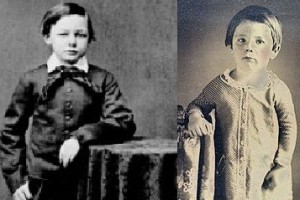 Mary Lincoln told her sister that her two dead sons Willie and Eddy visited her, coming to the foot of her bed. (LC)