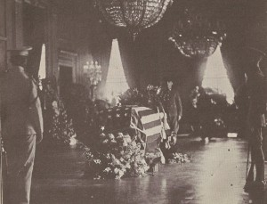 President Harding's coffin in the East Room was ordered open by Florence Harding, so she could then talk to him.