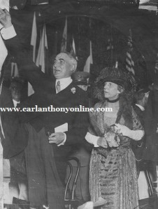 President Warren Harding and First Lady Florence Harding.