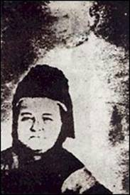 The famous photograph of the widowed Mary Lincoln with the loving hands of her husband's ghosts protectively on her shoulders.