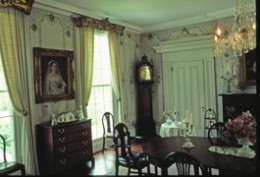 The dining room of President Tyler's Virginia home. (Sherwood Forest)