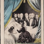 Peggy Taylor became hysterical at the deathbed scene of her husband, President Zachary Taylor.