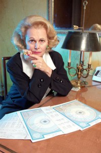 Quigley with horoscope charts. (AP)