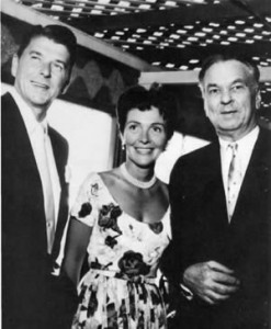 The Reagans with Carroll Righter in Hollywood.