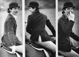 During her second marriage, Jacqueline Kennedy Onassis began a new custom of spending Thanksgiving morning on a fox hunt at her New Jersey countryside home. (UPI)