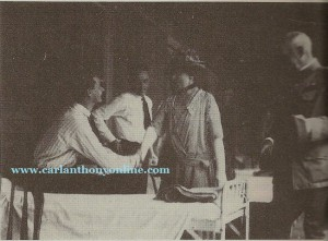 Florence Harding loyally visits wounded World War I vets at Walter Reed Hospital in 1921.
