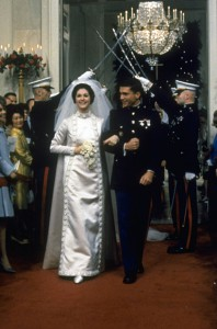 Lynda Johnson married Marine Chuck Robb in the White House, December 1967. By the following Thanksgiving he was serving in the Vietnam War. (LBJL)