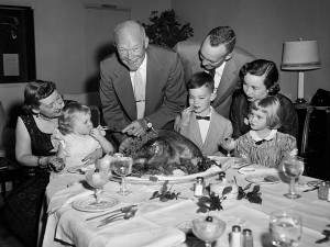 The Eisenhower family at Thanksgiving following his 1952 election. (Corbis)