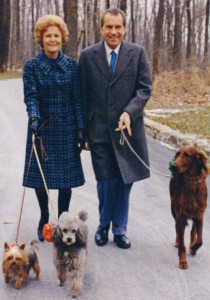 The Nixons at Camp David in November of 1973, which marked their last presidential Thanksgiving. (Ollie Aikens)