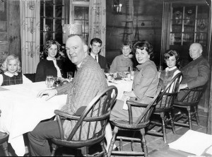Three days after the Kennedy assassination,  Mamie Eisenhower and family had Thanksgiving dinner at Lamie's Tavern in New Hampshire. (Hampton Library, New Hampshire)