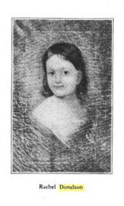Emily Donelson's daughter Rachel, one of six little children at the Christmas events she organized in 1835.