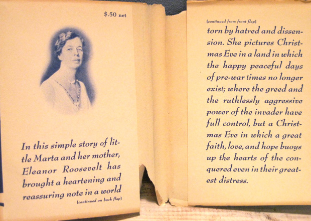 Eleanor Roosevelt's introduction to her 1940 Christmas book. (brain picking.org)