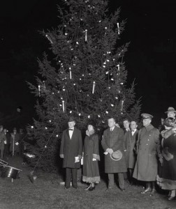 Grace Coolidge joined her husband in lighting the National Christmas Tree.