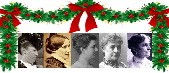 Five First Ladies of the Victorian Era celebrated Christmas in the White House as private family events only: Julia Grant, Lucy Hayes, Frances Cleveland, Caroline Harrison, Ida McKinley.