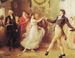 Christmas dancing at the Mount Vernon plantation house.