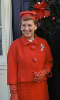 Mamie Eisenhower at Christmas.