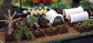 The 2012 Obama Gingerbread House featured a reproduction of Michelle Obama's vegetable garden.