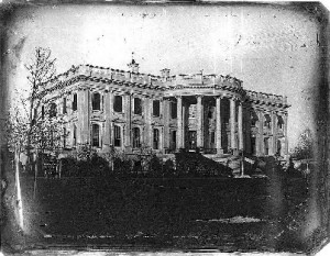 The White House during Polk's presidency.