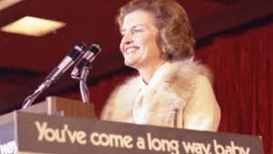 First Lady Betty Ford speaking on women's equality presented a political challenge to conservatives within the Republican Party at the time of her husband's 1976 presidential campaign. (GRFL)