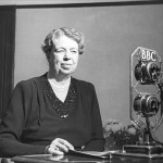 Eleanor Roosevelt gave a radio broadcast on the BBC. (BBC)